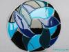 platte glazen serveerschaal VIS