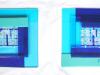 2 glazen wandpanelen