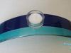 Glaskandelaar blauwtinten