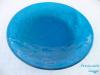 glazen schaal middenblauw met vissen € 110,-