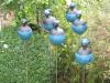 bolle beeldjes antraciet/blauw op stalen pin